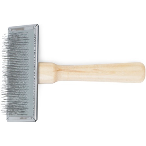 Ancol Heritage Wood Handle Soft Slicker Brush