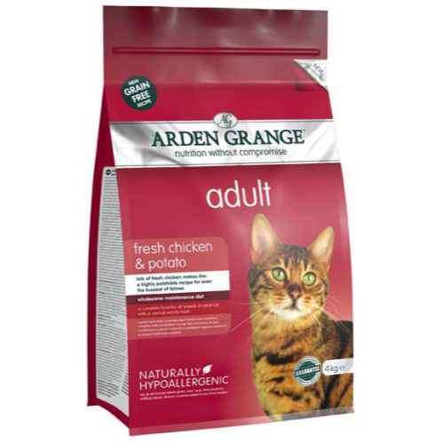 Arden Grange Chicken & Potato Cereal Free Adult Cat Food 4kg x 2
