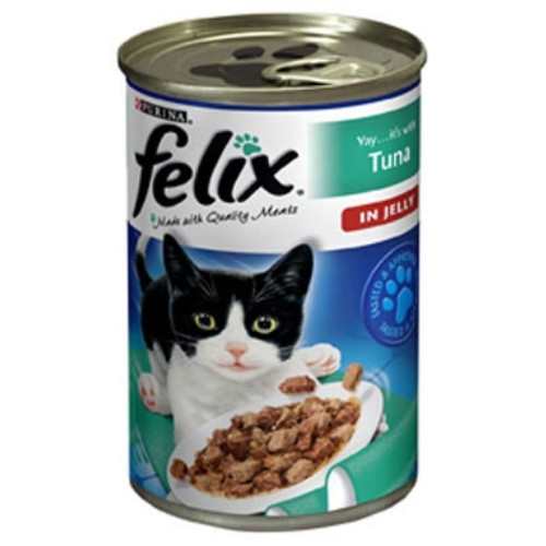 Felix Single Flavour In Jelly Tins Cat Food