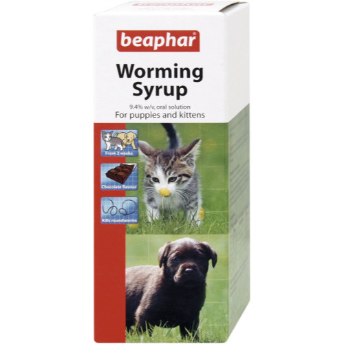 Beaphar Worming Syrup for Puppies and Kittens