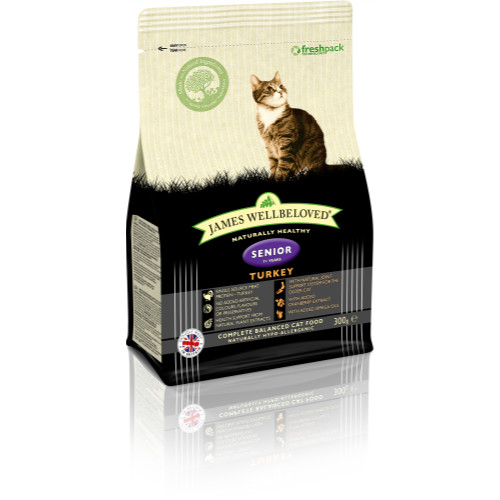 James Wellbeloved Turkey Senior Cat Food