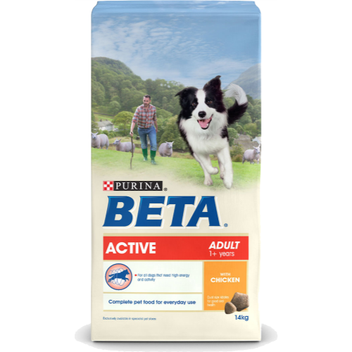 BETA Chicken Active Adult Dog Food 14kg