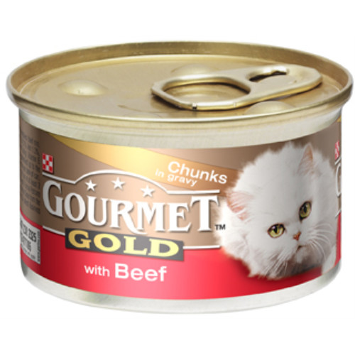 Gourmet Gold Beef in Gravy Cat Food 12 x 85g