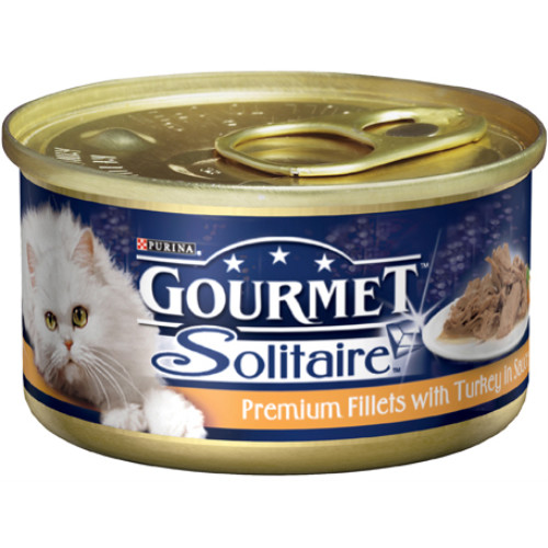 Gourmet Solitaire Turkey Fillets Cat Food 12 x 85g