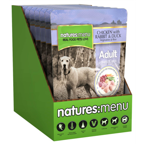 Natures Menu Chicken & Duck Adult Dog Food Pouches