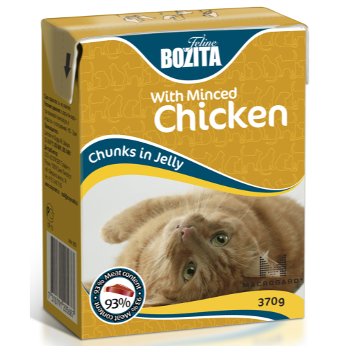 Bozita Chunks Jelly Chicken Liver Adult Cat Food 370g x 16