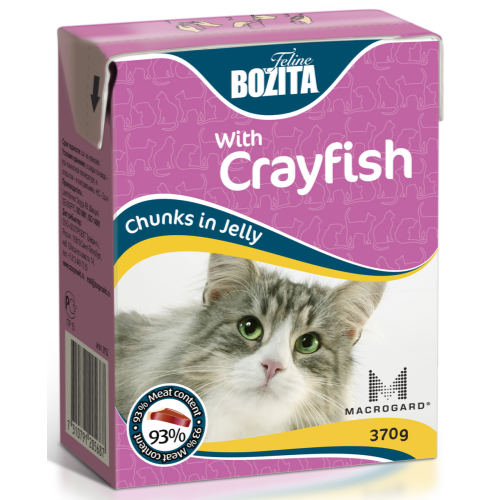 Bozita Chunks Jelly Crayfish 370g x 16