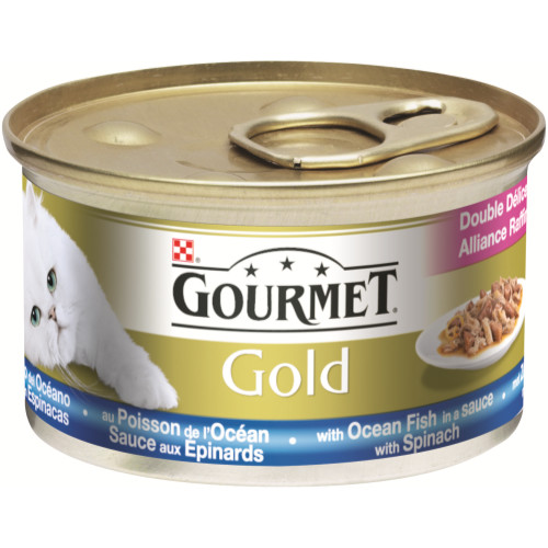 Gourmet Gold Ocean Fish & Spinach Cat Food 12 x 85g