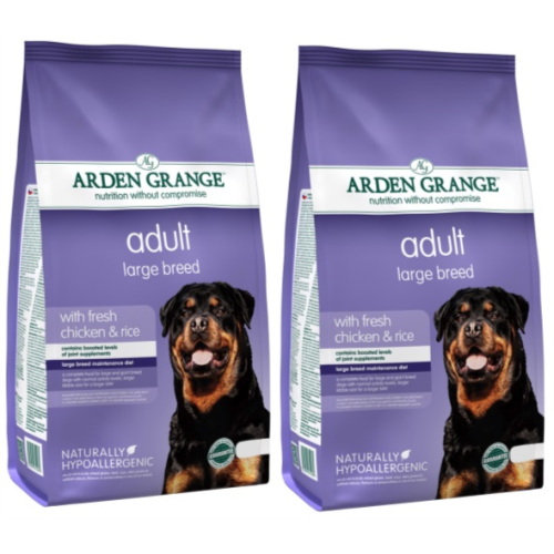 Arden Grange Chicken & Rice Large Breed Adult Dog Food 12kg x 2