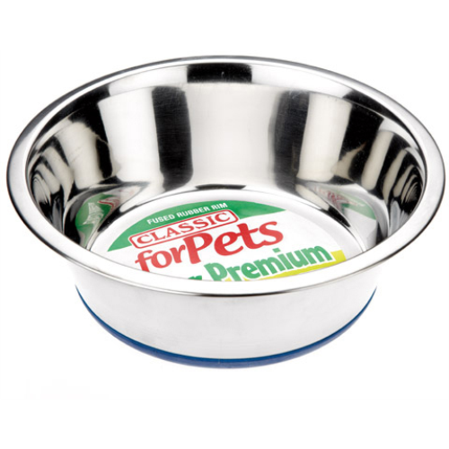 Classic Stainless Steel Non Slip Dog Bowl  250mm