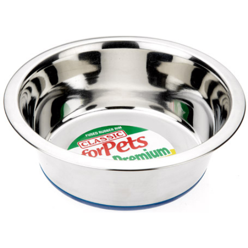 Classic Stainless Steel Non Slip Dog Bowl  280mm