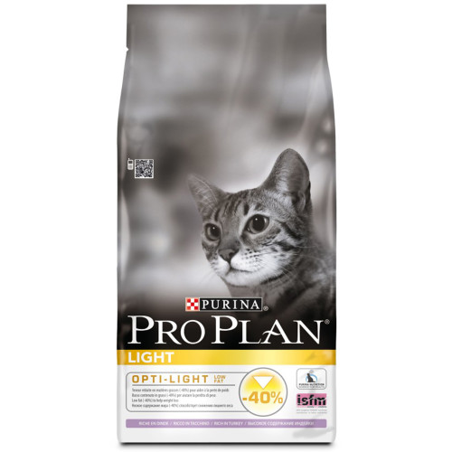 PRO PLAN Light Opti-Light Turkey Adult Cat Food