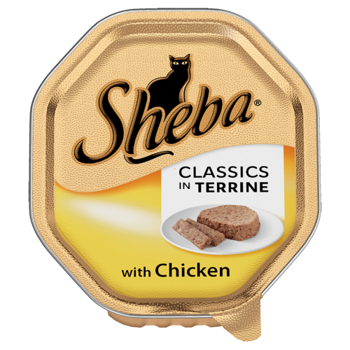 Sheba Tray Classics Chicken in Terrine Adult Cat Food 100g x 18