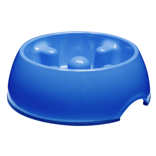 Dogit Go Slow Anti-Gulping Dog Bowl 600ml - Blue