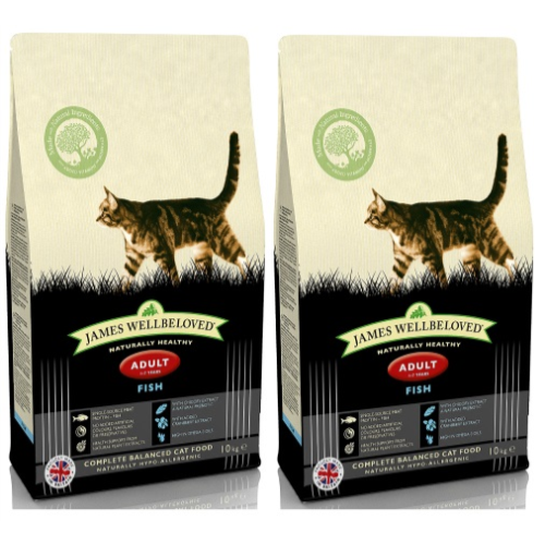 James Wellbeloved Adult Fish Cat Food 4kg x 2
