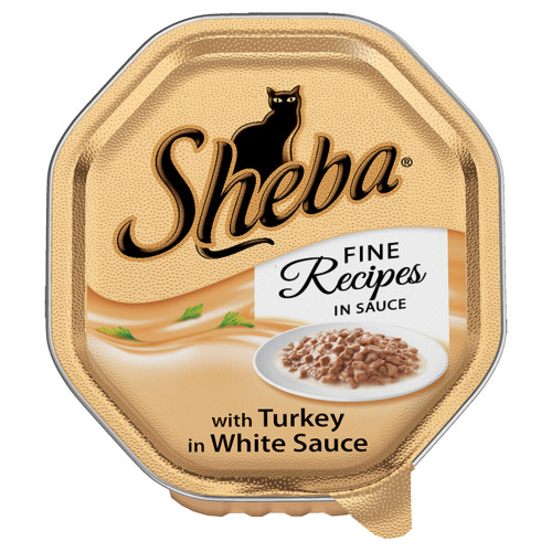 Sheba Tray Fine Recipes Turkey in White Sauce Adult Cat Food