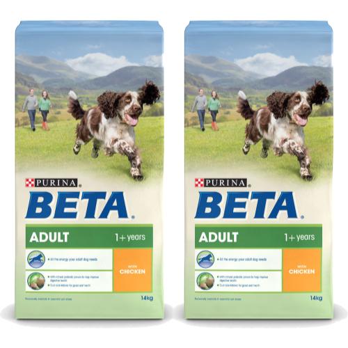 BETA Chicken Adult Dog Food 14kg x 2