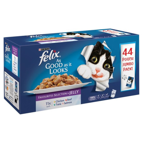 Felix As Good As It Looks Favourites in Jelly Cat Food