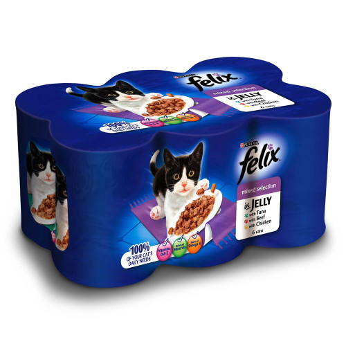 Felix Mixed Selection In Jelly Cans Cat Food