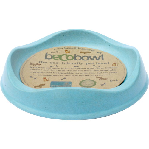 Becobowl Eco Friendly Cat & Puppy Bowl Blue