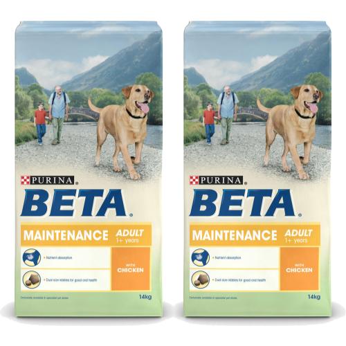 BETA Chicken Maintenance Adult Dog Food 14kg x 2