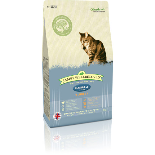 James Wellbeloved Hairball Turkey Adult Cat Food