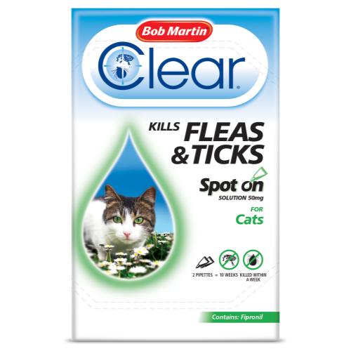 Bob Martin Flea Clear Spot On Cat 2 Tubes