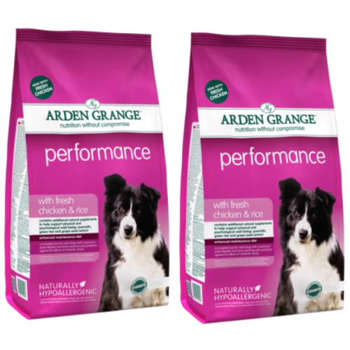 Arden Grange Chicken & Rice Performance Dog Food 12kg x 2