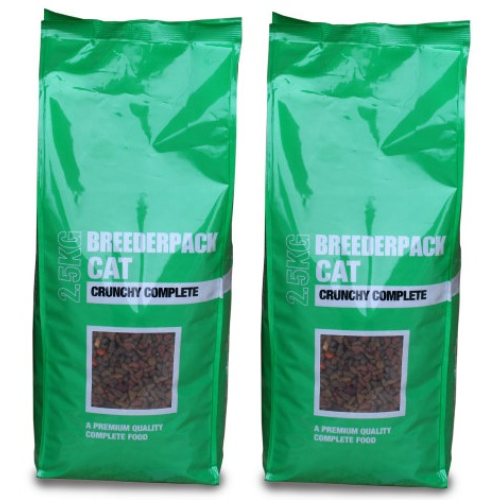 Breederpack Crunchy Complete Cat Food 15kg x 2