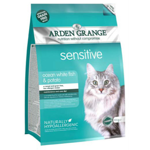 Arden Grange Sensitive Ocean Fish & Potato Adult Cat Food