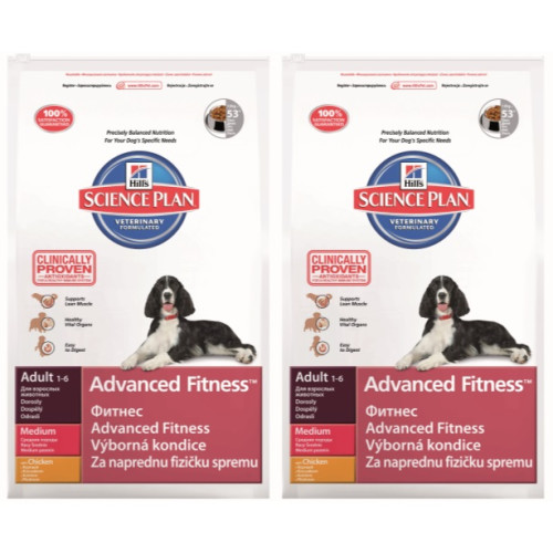 Hills Science Plan Canine Adult Advanced Fitness Medium Chicken