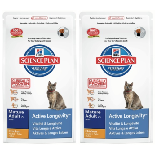 Hills Science Plan Feline Mature 7 Active Longevity Chicken 10kg x 2