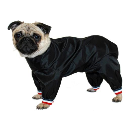 "Cosipet Black Half Leg Trouser Suit Dog Coat 35cm /  14"""