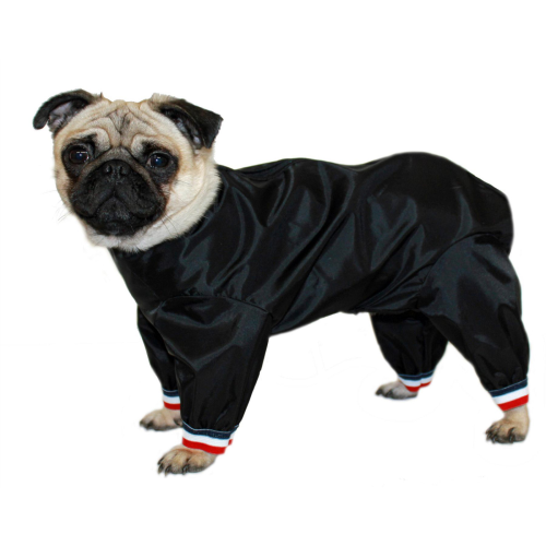 "Cosipet Black Half Leg Trouser Suit Dog Coat 46cm / 18"""