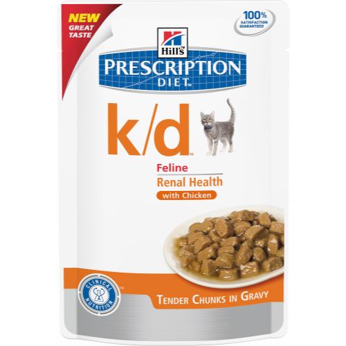 Hills Prescription Diet Feline KD Pouches 85g x 96 Chicken