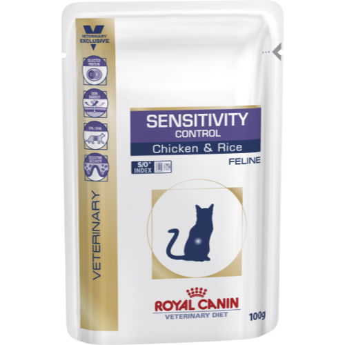 Royal Canin Veterinary Diets Sensitivity Control SO Cat Food 100g x 96
