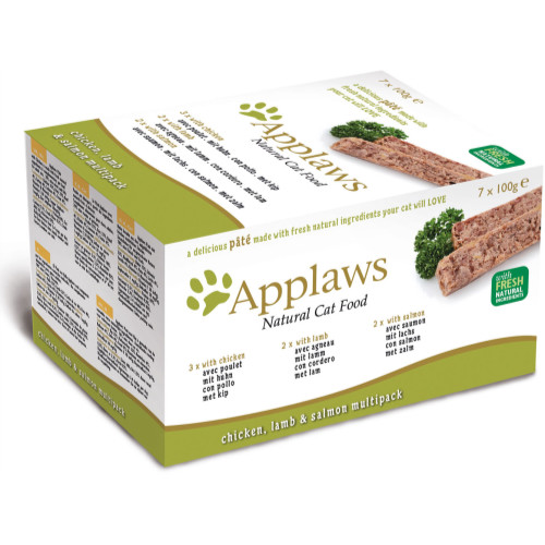 Applaws Pate Chicken Lamb & Salmon Multipack Adult Cat Food