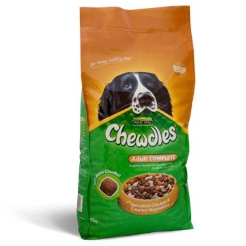 Chewdles Complete Chicken & Veg Dog Food 15kg x 2