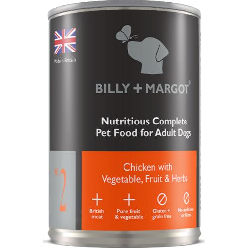 Billy & Margot Chicken Complete Adult Dog Food 395g x 12