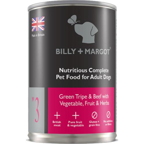 Billy & Margot Beef & Tripe Complete Adult Dog Food 395g x 12