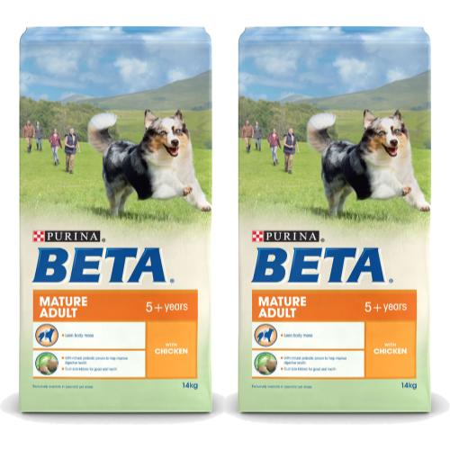 BETA Chicken Mature Adult Dog Food 14kg x 2