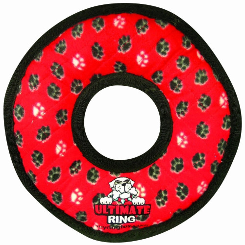 Tuffy Ultimate Ring Red Dog Toy