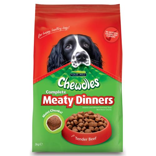 Chewdles Dog Meaty Dinners Beef 3kg
