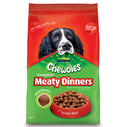Chewdles Dog Meaty Dinners Beef 1kg