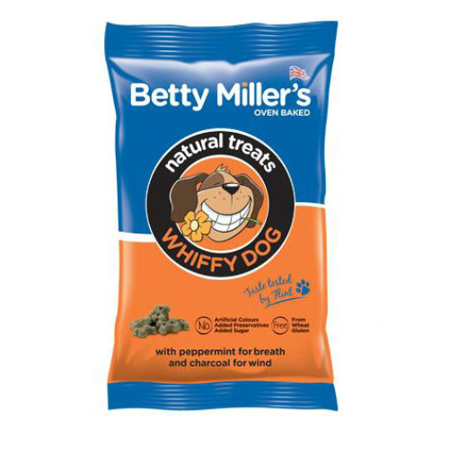 Betty Millers Gluten Free Dog Treats 100g Whiffy Dog