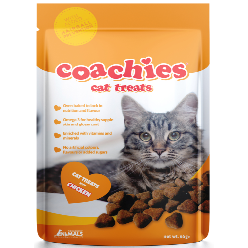 Coachies Hair Ball Prevention Cat Treats 65g Hairball Prevention with Chicken