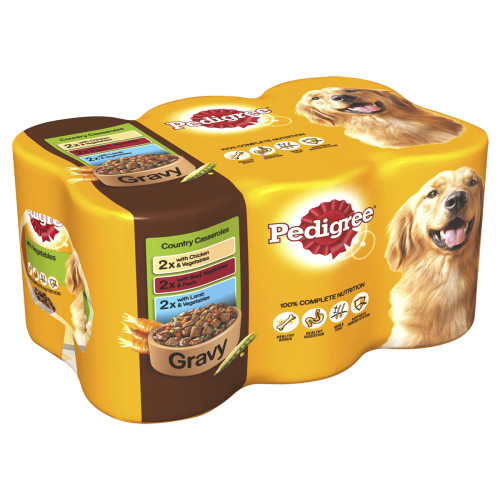 Pedigree Can Country Casseroles Gravy Adult Dog Food
