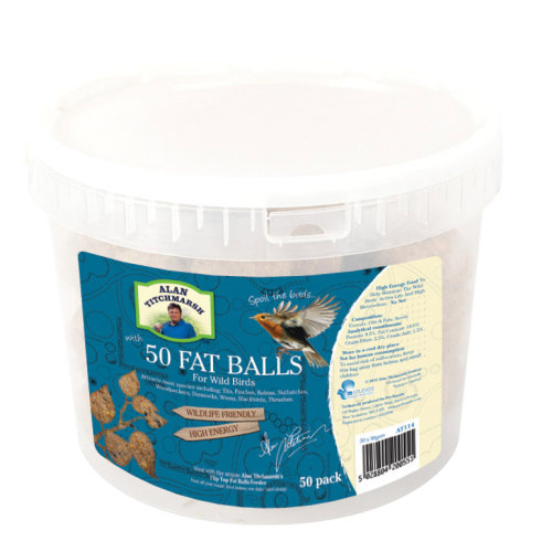 Alan Titchmarsh Fat Snax Fat Balls 50 Pack