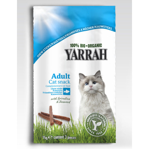 Yarrah Organic Fish Chew Sticks Cat Treats