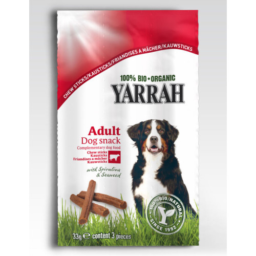 Yarrah Organic Beef Dog Chew Sticks